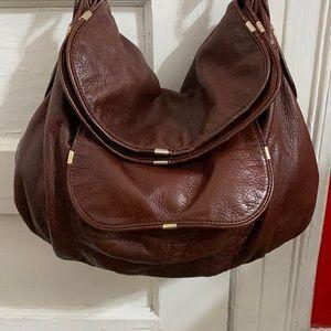 B. MAKOWSKY  Brown Leather Hobo Bag Handbag
